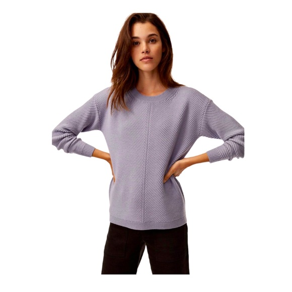Wilfred Free Isabelli Sweater Waffle Knit Lavender